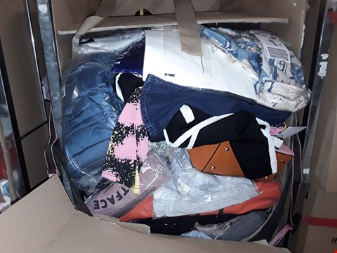 Lot 1346 CAGE OF ASSORTED UNPROCESSED ADULT CLOTHING (CAGE NOT INCLUDED)