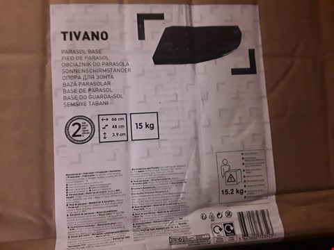 Lot 1153 BOXED TIVANO PARASOL BASE