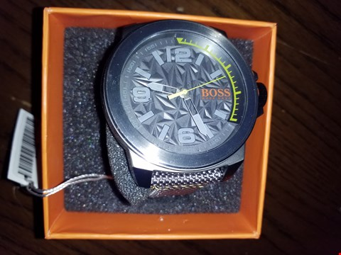 Lot 9256 HUGO BOSS ORANGE GREY DIAL GREEN ACCENT GREY STRAP MENS WATCH RRP £199.00