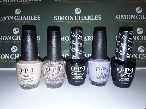 Lot 18 LOT OF 5 ASSORTED OPI NAIL GELS