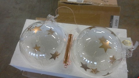 Lot 2201 A LOT OF 3 BOXES OF HR 2 STAR BAUBLES ROSE