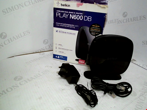 Lot 270 BOXED BELKIN PLAY N600- DB WIRELESS DUAL BAND ROUTER