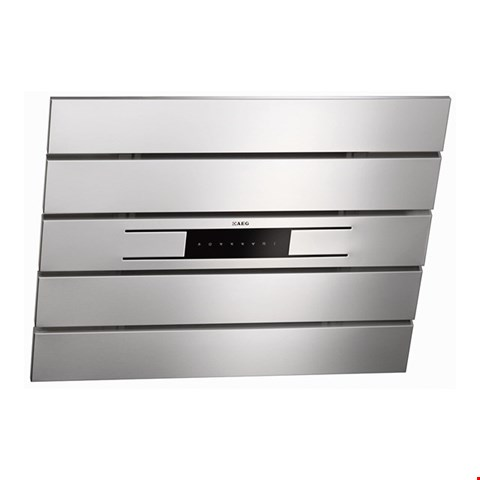 Lot 100 AEG X69454MV00 90CM ANGLED COOKER HOOD STAINLESS STEEL RRP £709