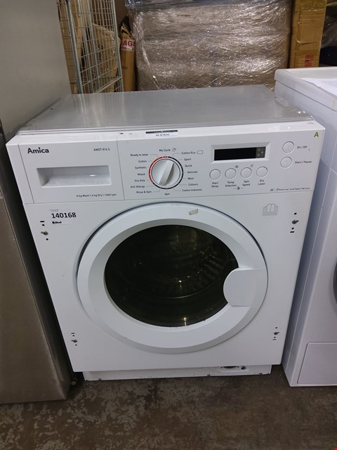 Lot 9349 AMICA INTEGRATED WASHER DRYER AWDT814S