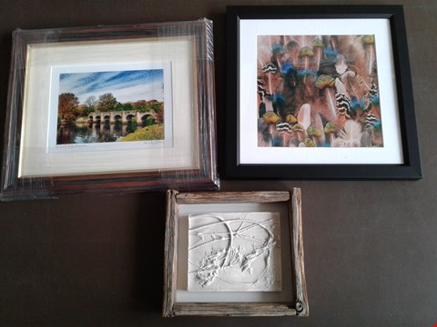 Lot 6 3 FRAMED ARTWORKS, INCLUDING PLANT CAST