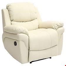 Lot 12275 BOXED DESIGNER MADISON CREAM LEATHER POWER RECLINING EASY CHAIR  RRP £349.99