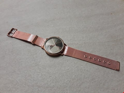 Lot 6013 CALVIN KLEIN STYLE ROSE GOLD LOOK WATCH