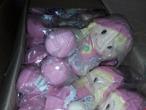 Lot 136 3 BOXES TO AMOUNT TO APPROXIMATELY 72 RAG DOLLS 14 INCH