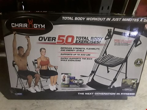 Lot 9717 CHAIR GYM TOTAL BODY EXERCISE SYSTEM WITH TWISTER SEAT & 5 DVDS