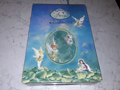 Lot 203 bowlBOXED DISNEY'S FAIRIES BY ROYAL BOULTON 3-PIECE SET INCLUDES MUG, PLATE AND BOWL