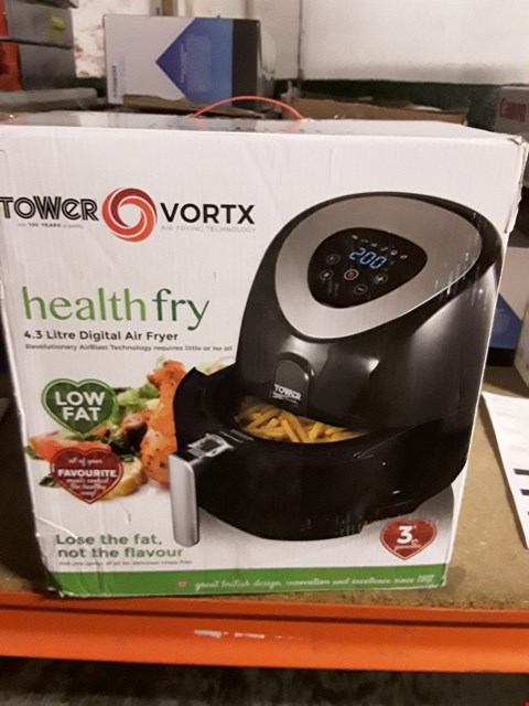 Lot 2417 TOWER T17024 DIGITAL AIR FRYER WITH LCD DISPLAY, 1500 W, 4.3 LITRE, BLACK