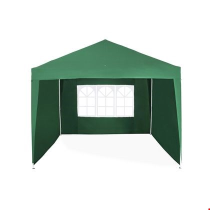Lot 2077 3 × 3 M POP UP GAZEBO WITH 3 SIDE PANELS (1 BOX)  RRP £179