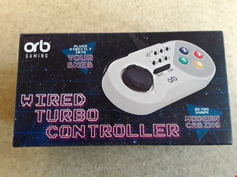 Lot 154 BRAND NEW BOXED ORB WIRED TURBO SNES CONTROLLER