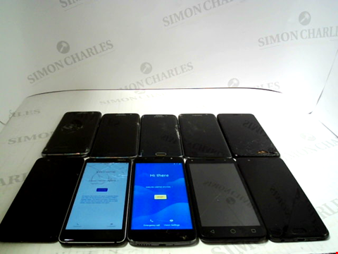 Lot 3374 LOT OF 10 ASSORTED SMARTPHONES; VARIOUS MAKES AND GRADES