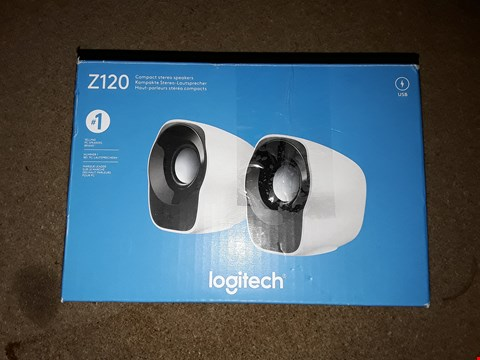 Lot 696 LOGITECH Z120 COMPACT STEREO SPEAKERS