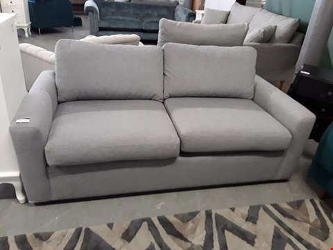 Lot 16 QUALITY BRITISH DESIGNER GREY FABRIC OLIVER 3 SEATER METAL ACTION SOFA BED