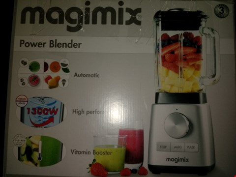 Lot 1951 MAGIMIX 11628 POWER BLENDER WITH QUIET MARK APPROVAL, METAL/GLASS, 1.3 W, 1.8 LITERS, BLACK