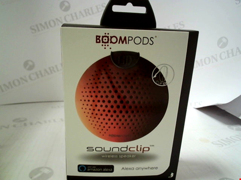 Lot 382 BRAND NEW BOOMPODS SOUNDCLIP WIRELESS SPEAKER