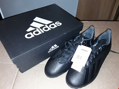 Lot 6 BOXED ADIDAS X TANGO 18.4 TF FOOTBALL BOOTS SIZE 11UK / 46EUR BLACK/BLACK