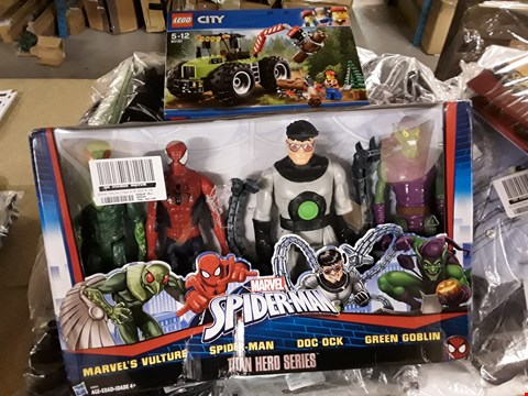 Lot 207 THREE GRADE 1 TOYS, LEGO CITY 60181 FOREST TRACTOR, SPIDERMAN TITAN HERO SERIES & INCREDIBLES COMIC CREATOR RRP £122