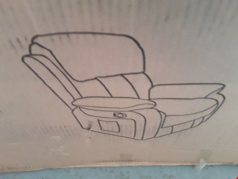 Lot 99 DESIGNER BOXED CHESTER BLACK LEATHER MANUAL RECLINING ARMCHAIR  RRP £428.00