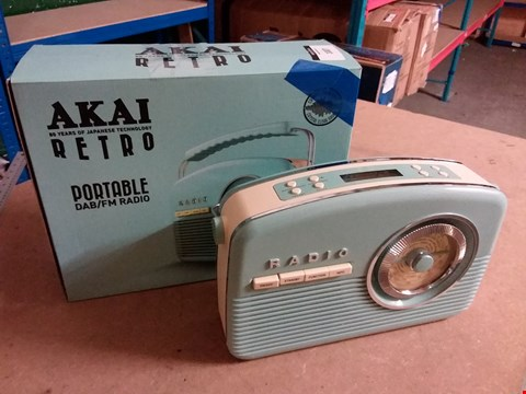 Lot 1007 AKAI RETRO PORTABLE DAB/60CM RADIO - SKY BLUE
