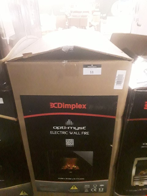 Lot 11 BOXED DIMPLEX OPTI-MYST ELECTRIC WALL FIRE  RRP £452