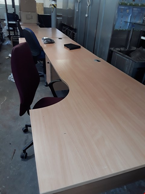 Lot 57 APPROXIMATELY 5 ASSORTED OFFICE DESKS AND APPROXIMATELY 4 ASSORTED OFFICE CHAIRS