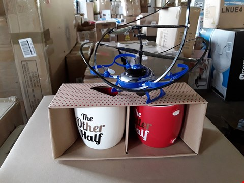 Lot 7288 LOT OF 2 ASSORTED ITEMS TO INCLUDE MY FIRST RC DRONE, VALENTINE 2 PIECE MUG SET RRP £62