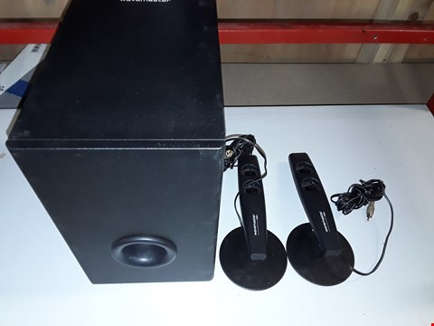 Lot 813 WAVEMASTER STAX BT - 2.1 BLUETOOTH STEREO SPEAKER SYSTEM