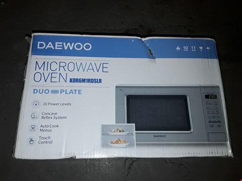 Lot 531 DAEWOO KOR6M1RDSLR DUO-PLATE TOUCH CONTROL MICROWAVE