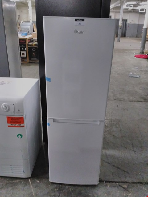 Lot 25 SWAN SR8081W 48CM WIDE FRIDGE FREEZER - WHITE