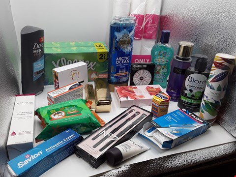 Lot 11 TRAY OF APPROXIMATLY 23 ITEMS OF ASSORTED COSMETIC ITEMS