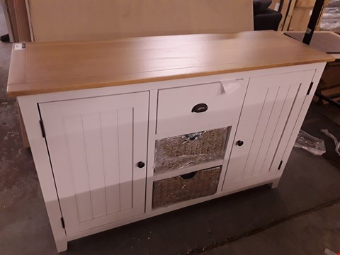 Lot 2045 CLOVELY READY ASSEMBLED LARGE SIDEBOARD CREAM/OAK