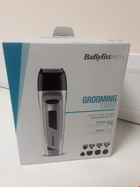Lot 4559 BOXED BABYLISS MEN GROOMING TRIM 8 IN 1 KIT
