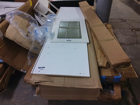 Lot 2076 PALLET OF ASSORTED FLAT PACK FURNITURE/PARTS