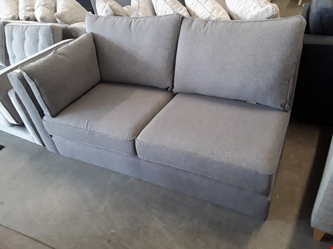 Lot 57 QUALITY BRITISH DESIGNER GREY FABRIC SOFA SECTION