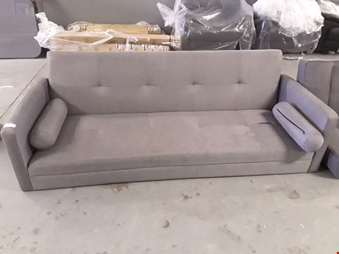 Lot 2050 DESIGNER GREY FABRIC CLICK-CLACK SOFA BED