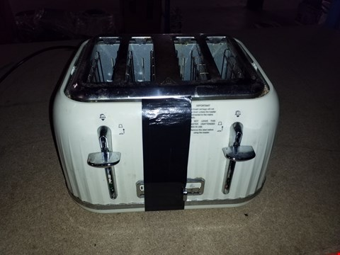 Lot 2367 BREVILLE IMPRESSIONS CREAM 4 SLICE TOASTER  RRP £45.00