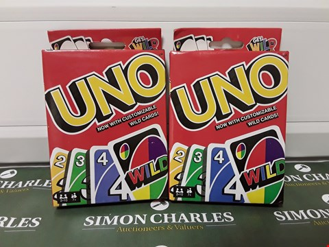 Lot 1412 LOT OF 2 ASSORTED PACKS OF UNO CARDS