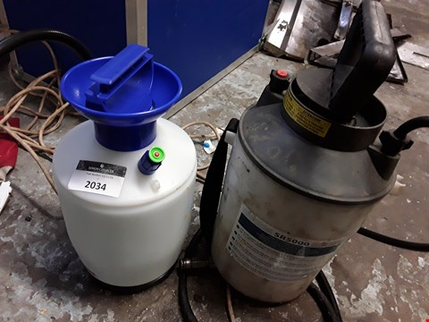 Lot 2034 TWO HAND PRESSURE PUMPS
