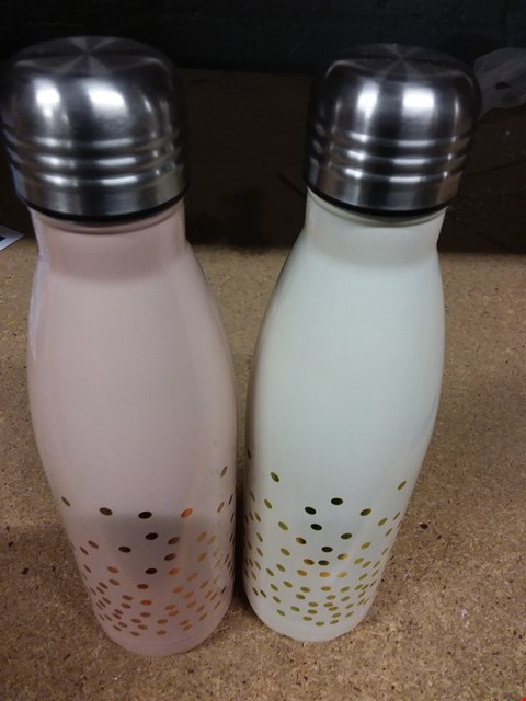 Lot 247 SET OF 2 500ML STAINLESS STEEL VACUUM HOT & COLD DRINKS BOTTLES