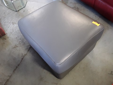 Lot 48 QUALITY DESIGNER ITALIAN GHIRLANDAIO GREY LEATHER STORAGE FOOTSTOOL