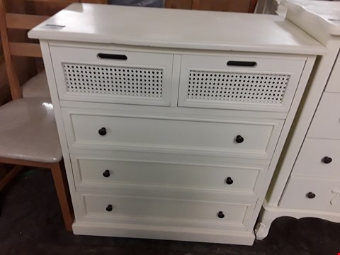 Lot 568 DECORATIVE 5 DRAWER WHITE CHEST