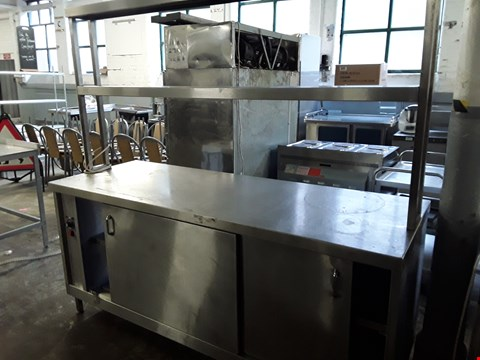 Lot 16 COMMERCIAL STAINLESS STEEL HEATED CUPBOARD SERVER