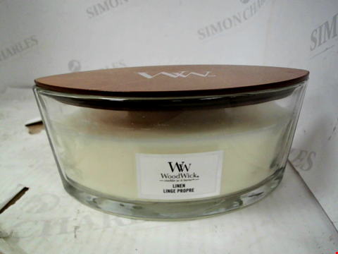 Lot 13058 WOODWICK ELLIPSE - LINEN LARGE CANDLE