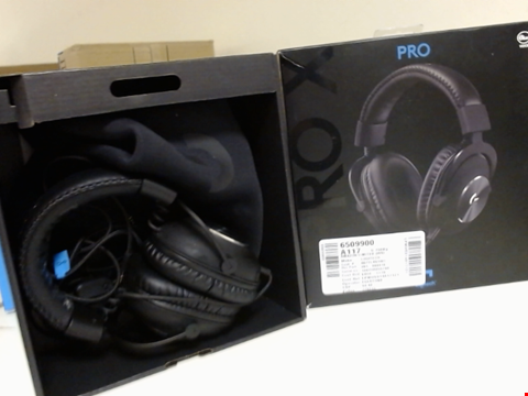 Lot 15241 LOGITECH G PRO X GAMING HEADSET (2ND GENERATION) WITH BLUE VO!CE, DTS HEADPHONE:X 7.1 AND 50 MM PRO-G DRIVERS (FOR PC, PS4, SWITCH, XBOX ONE, VR) - BLACK