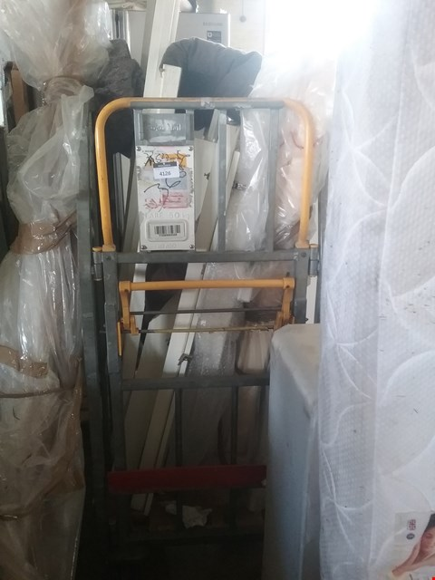 Lot 4126 CAGE OF ASSORTED WARDROBE AND BED PARTS