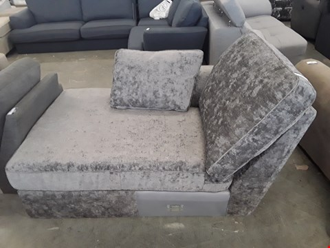 Lot 79 DESIGNER GREY FABRIC CHAISE SECTION