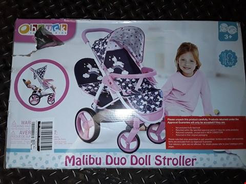 Lot 5060 UNICORN MALIBU DOLL TWIN STROLLER  RRP £44.99
